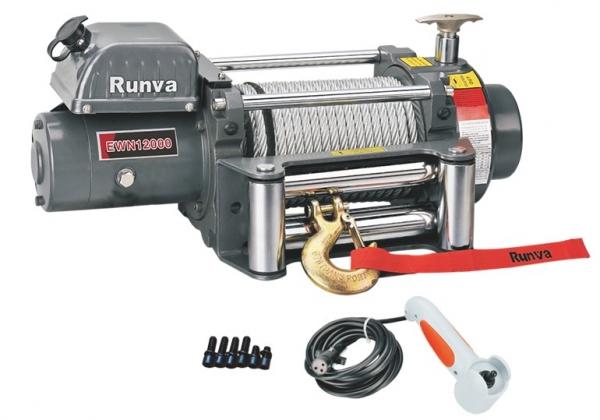 Лебёдка электрическая (индустр.) 12V Runva 12000 lbs 5700 кг