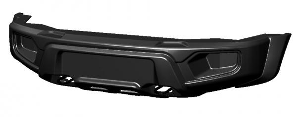 Бампер АВС-Дизайн передний UAZ Патриот/Пикап/Карго 2005- лифт Легкий (без оптики)(черный)