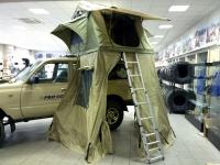 Палатка туристическая, для установки на крышу автомобиля, без тамбура, салатовая.