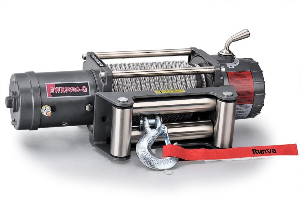 Лебёдка электрическая высокоскоростная 12V Runva 9500 lbs 4350 кг