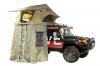 Палатка туристическая, для установки на крышу автомобиля, с тамбуром, песочная.