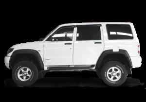 Расширители арок на УАЗ Патриот Дорестайлинг 2005-2014 гг. (полный комплект)